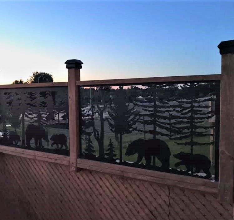 Custom Plasma-Cut Privacy Panels by Baseline